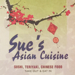 Sue's Asian Cuisine ~ Home of the 3 Roll special!