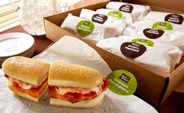 spicy calabrian chicken breadstick sandwich calories